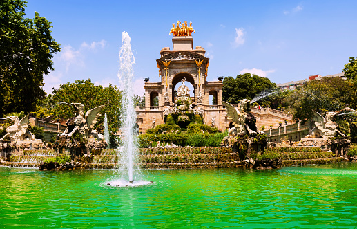 View of Barcelona,  Fountain Cascada