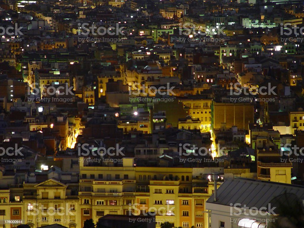 View of Barcelona from Park Guell -- long lens royalty-free stock photo