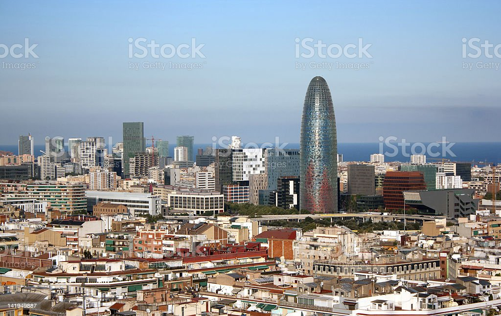 View of Barcelona, Spain View of Barcelona from the Sagrada Familia Barcelona - Spain Stock Photo
