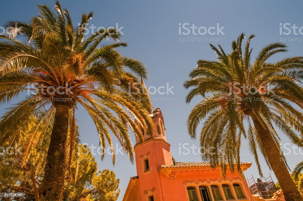 View of Barcelona's Suburb Regions stock photo