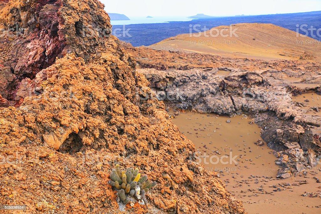 View of Bartolome island in Galapagos National Park, Ecuador. stock photo