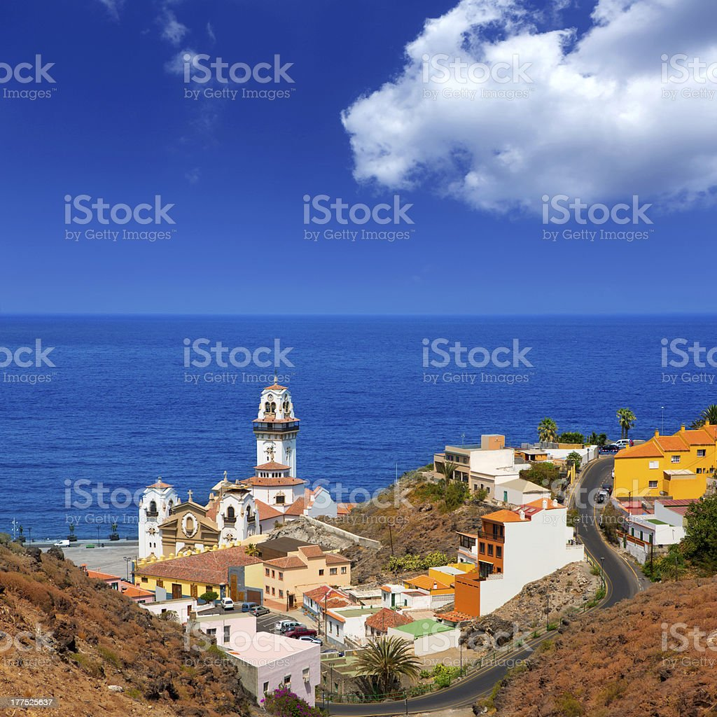 View of Basilica de Candelaria in Tenerife at Canary Island stock photo