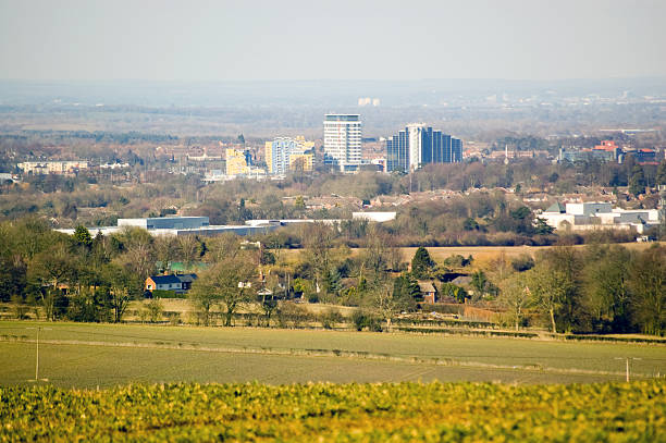 View of Basingstoke, Hampshire stock photo