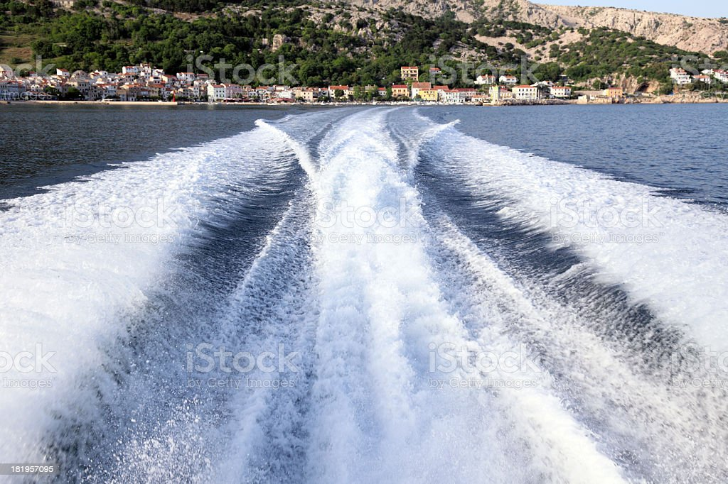 View of Baska from speedboat royalty-free stock photo