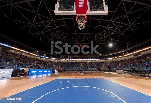 View of basketball court, Arena Stozice, Ljubljana, Slovenia.
