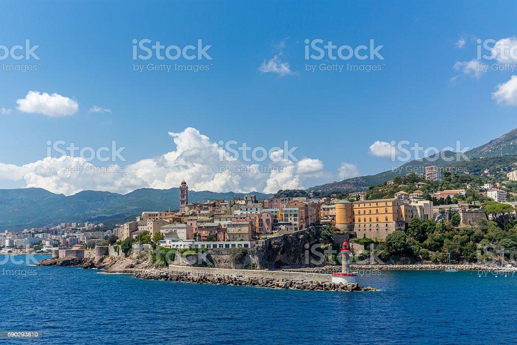 View of Bastia in Corsica from the port royaltyfri bildbanksbilder