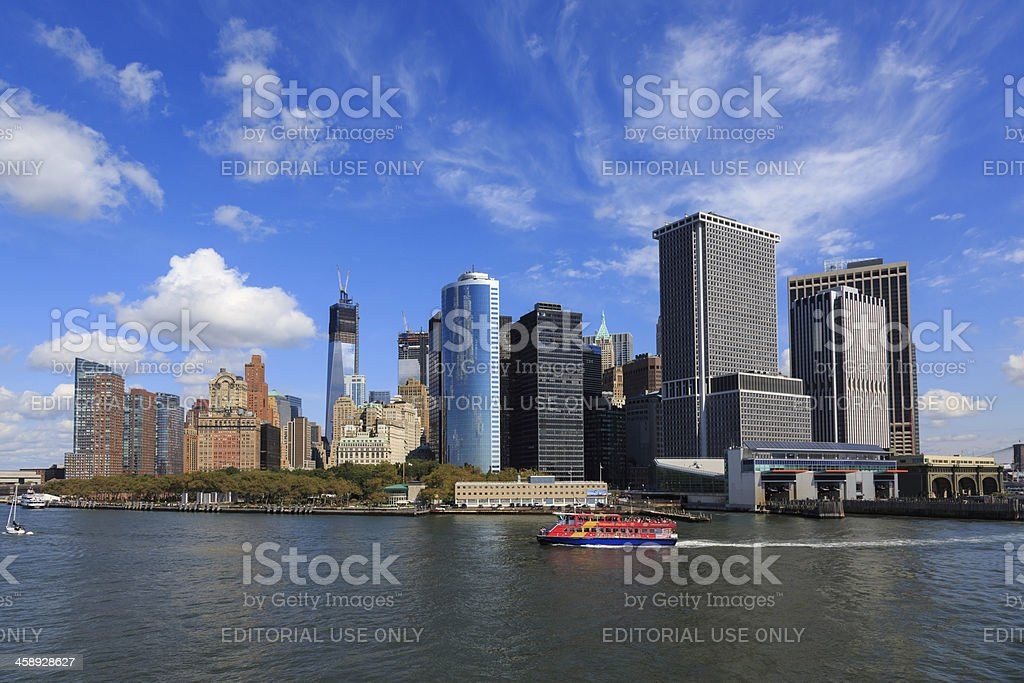 View of Battery Park and Lower Manhattan, New York City royalty-free stock photo