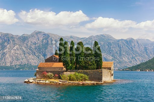 istock View of Bay of Kotor and island of Saint George. Montenegro 1125147574