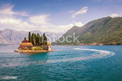 istock View of Bay of Kotor and island of Saint George. Montenegro 1125147602
