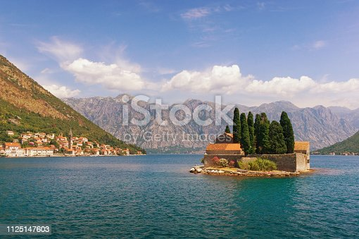 istock View of Bay of Kotor and island of Saint George. Montenegro 1125147603