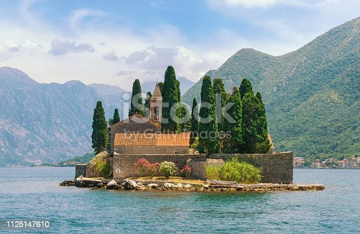 istock View of Bay of Kotor and island of Saint George. Montenegro 1125147610