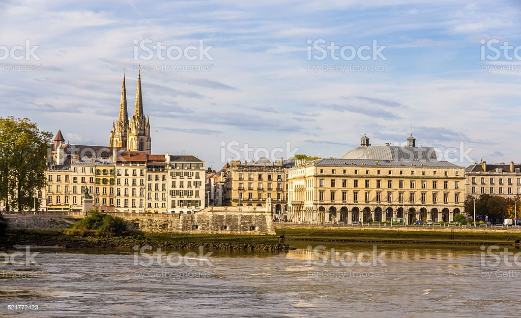 View of Bayonne - France, Aquitaine stock photo