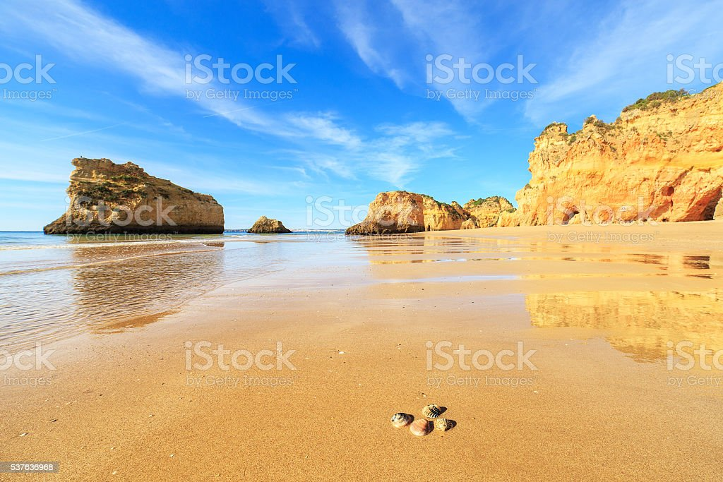 View of beach in Algarve region, Portugal - Photo