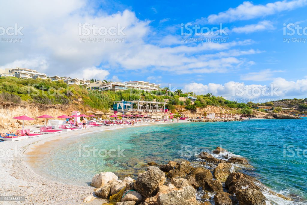 A View Of Beach In Proteas Bay Samos Island Greece Stock Photo Download Image Now Istock