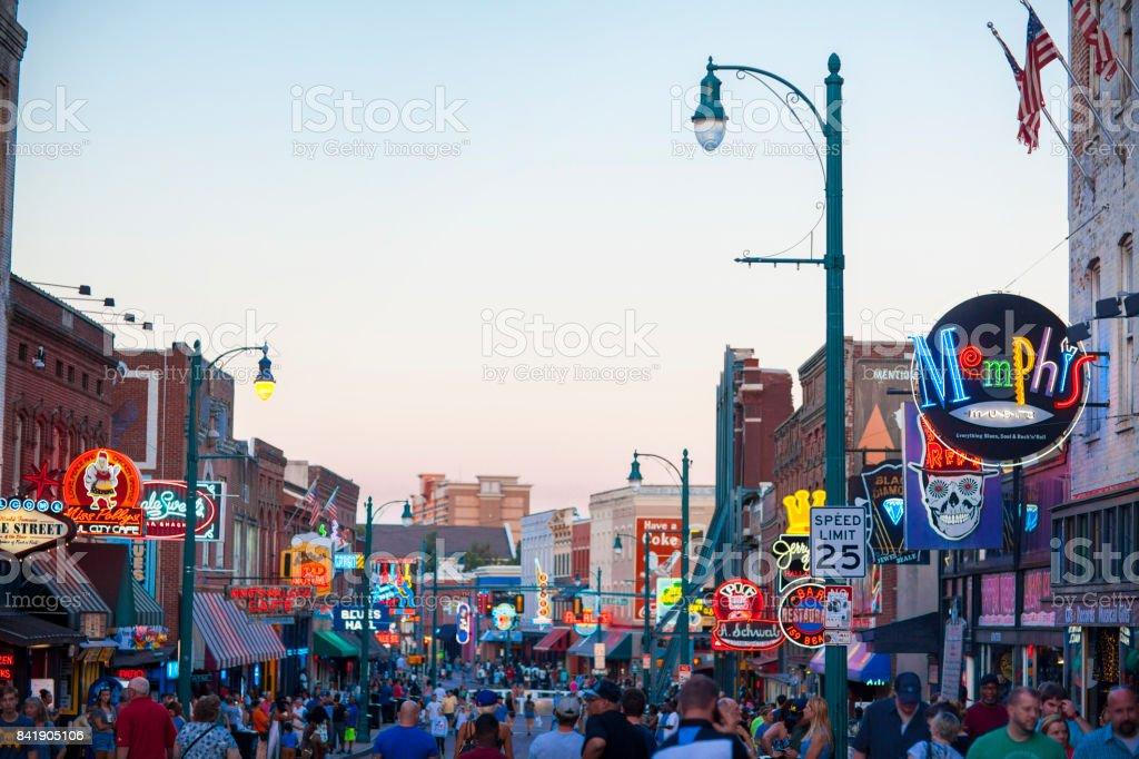 Ansicht der Beale Street, Memphis, TN – Foto