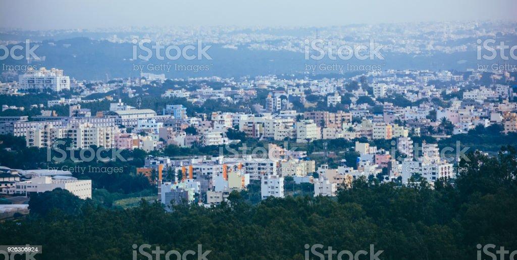 View Of Beautiful Bangalore Cityscape stock photo