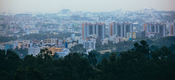 View Of Beautiful Bangalore Cityscape View Of Beautiful Bangalore Cityscape bangalore stock pictures, royalty-free photos & images