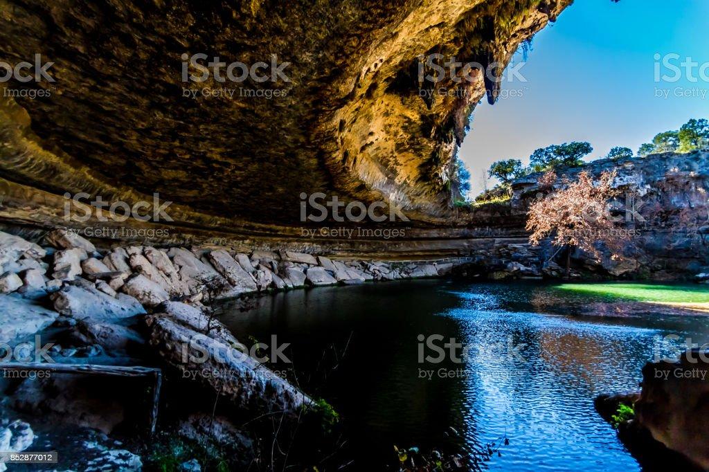 A View of Beautiful Hamilton Pool, Texas stock photo