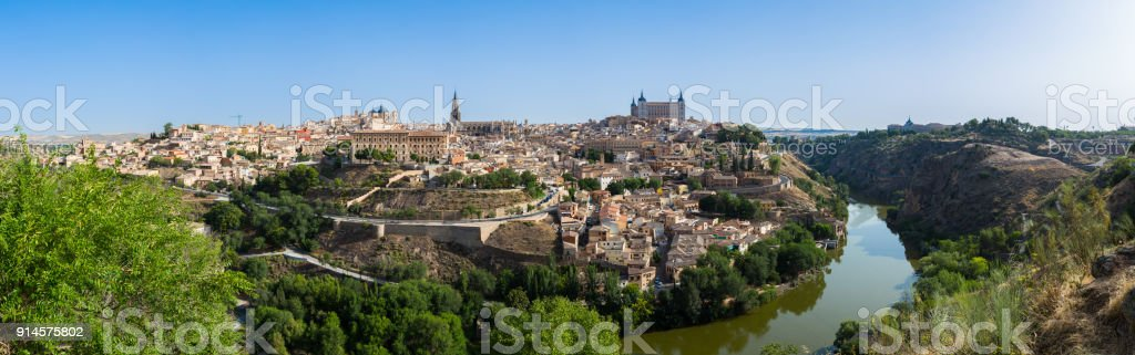 A view of beautiful medieval Toledo, Spain. - foto stock