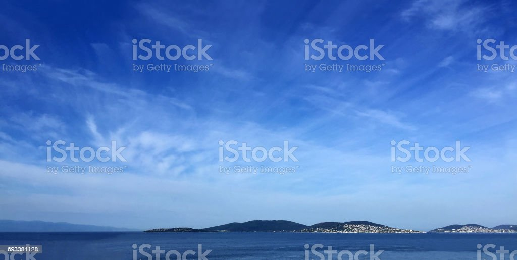 View of Beautiful Sea and Landscape stock photo