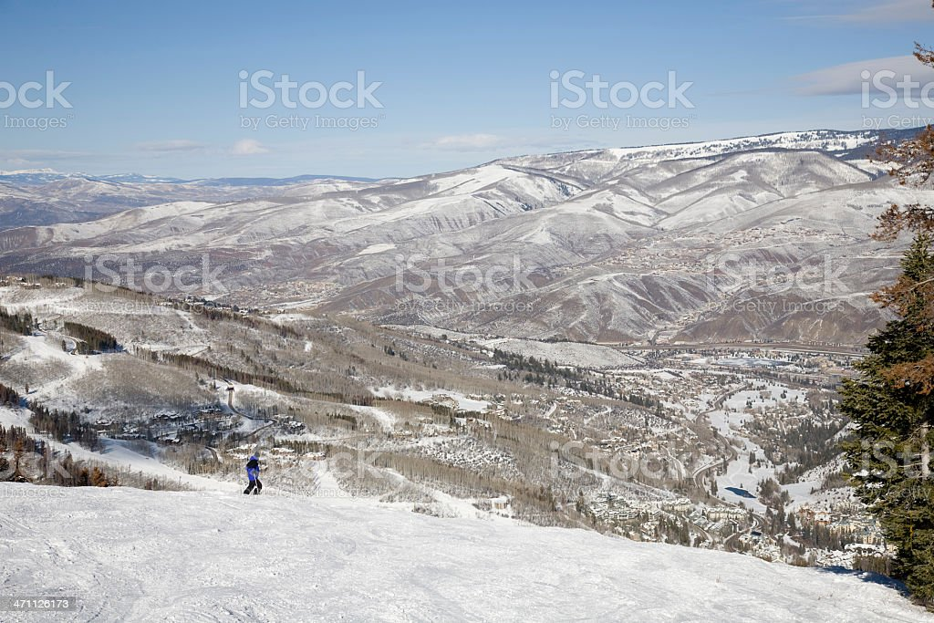 View of Beaver Creek and the Valley stock photo