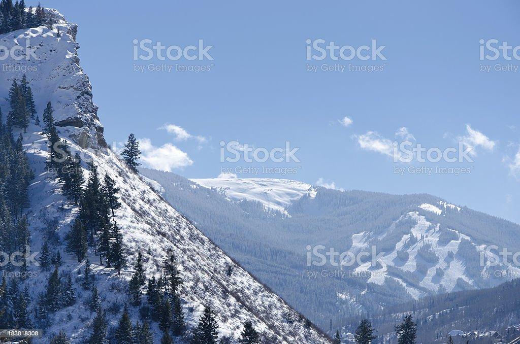 View of Beaver Creek Ski Runs stock photo