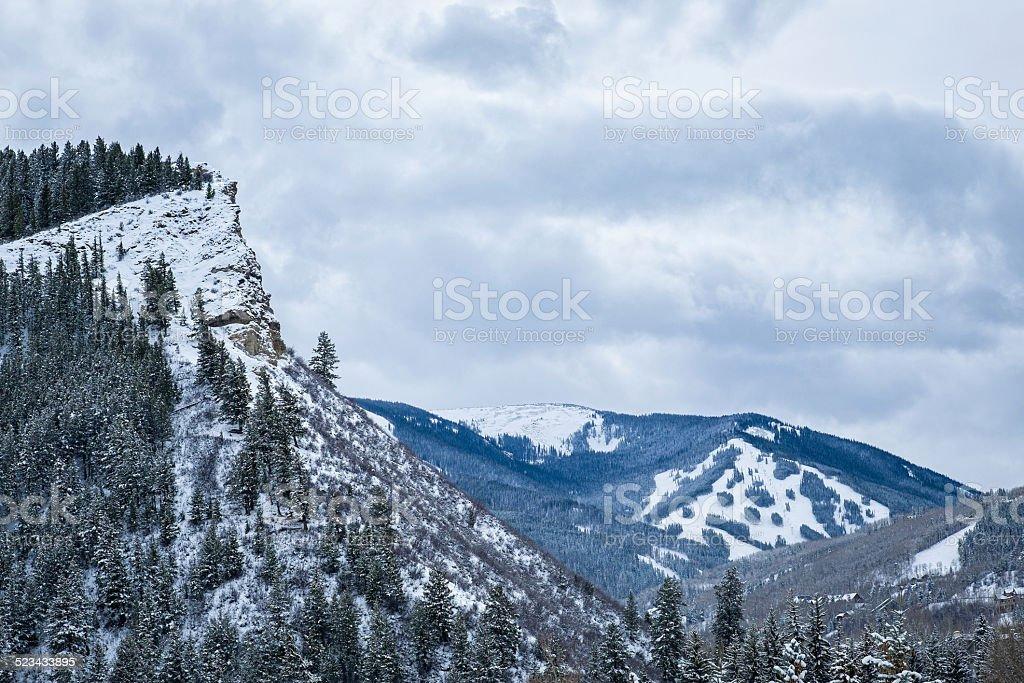 View of Beaver Creek Ski Slopes stock photo