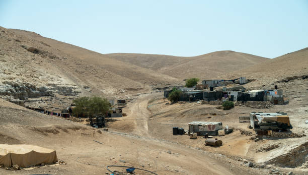 ISRAEL - AUGUST 30, 2019 : View of Bedouins village in the  Negev Dessert ISRAEL - AUGUST 30, 2019 : View of Bedouins village in the  Negev Dessert negev stock pictures, royalty-free photos & images