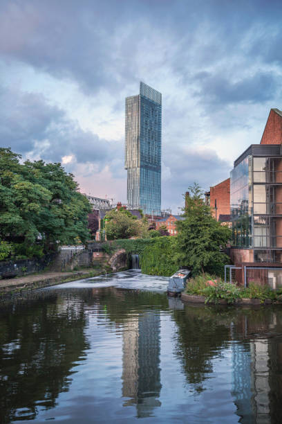 View Of Beetham Tower in Deansgate, Manchester. stock photo