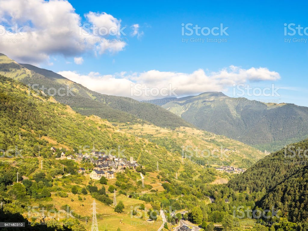 View of Begos and Benos villages stock photo