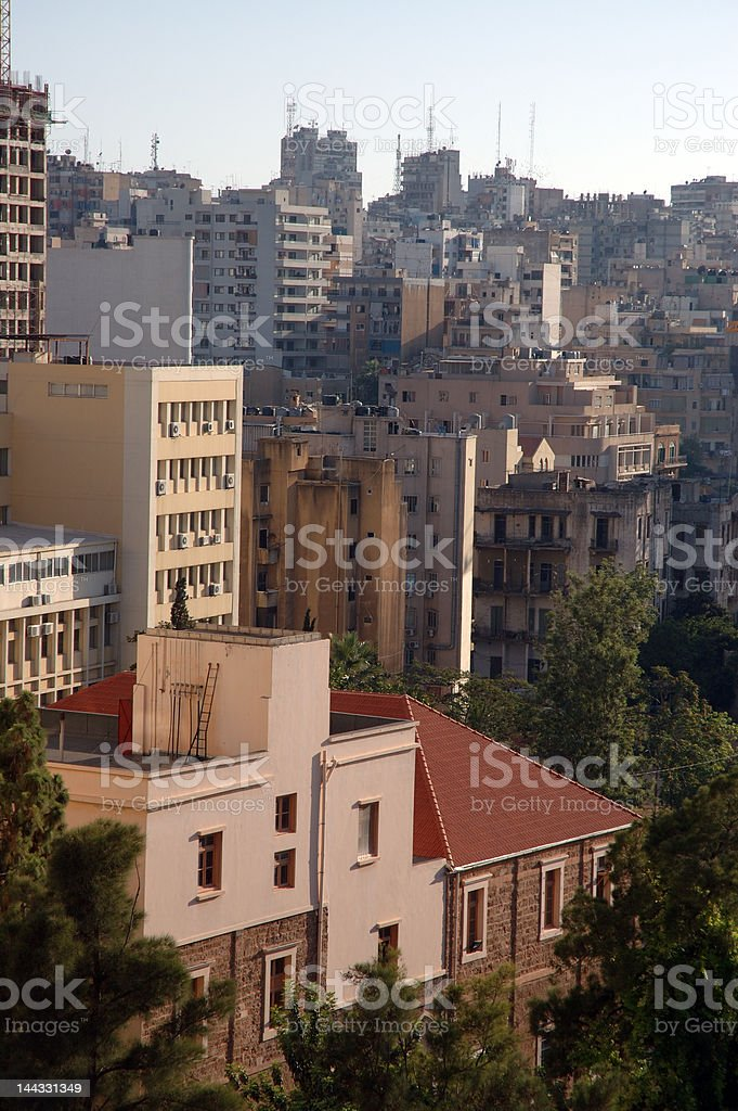 View of beirut, Lebanon stock photo