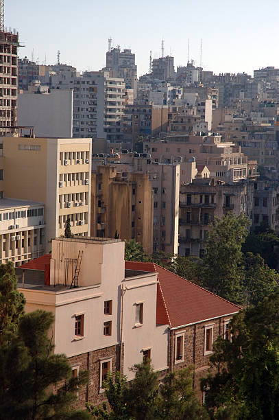 view of beirut, lebanon - alintal stock pictures, royalty-free photos & images