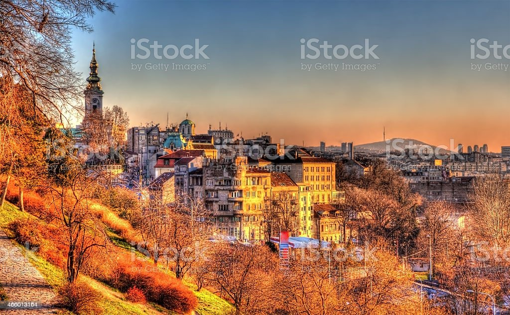 View of Belgrade city center - Serbia stock photo
