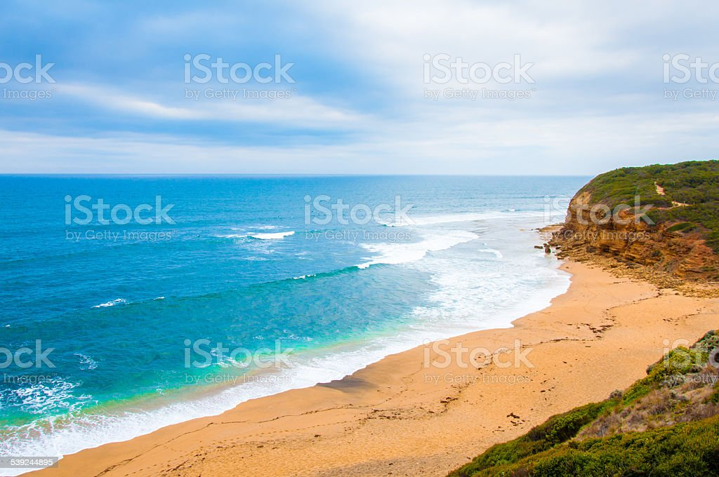 View of Bells beach on Great Ocean Road,  Australia royalty-free stock photo