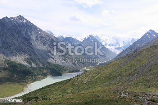 istock View of Belukha Mount and Lake Akkem from the Kara-Turek Pass, Altai Mountains, Russia 1126067890