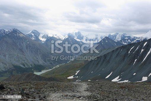istock View of Belukha Mount and Lake Akkem from the Kara-Turek Pass, Altai Mountains, Russia 1126067899