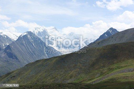 istock View of Belukha Mount from Kara-Turek Pass, Altai Mountains, Russia 1126067830