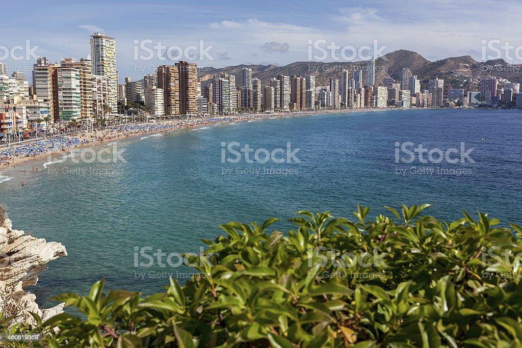 View of Benidorm, Costa Blanca, Spain stock photo