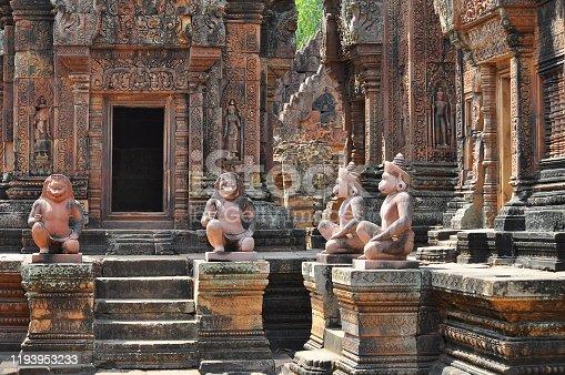 istock View of Benteay Srei Temple, Cambodia 1193953233