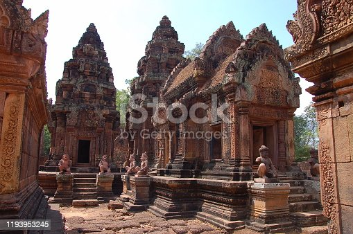 istock View of Benteay Srei Temple, Cambodia 1193953245