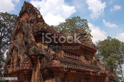 istock View of Benteay Srei Temple, Cambodia 1193953275