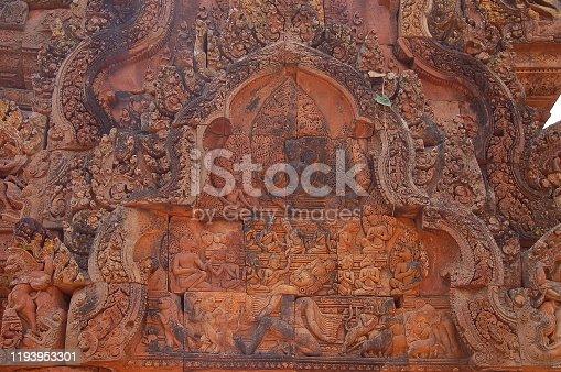 istock View of Benteay Srei Temple, Cambodia 1193953301