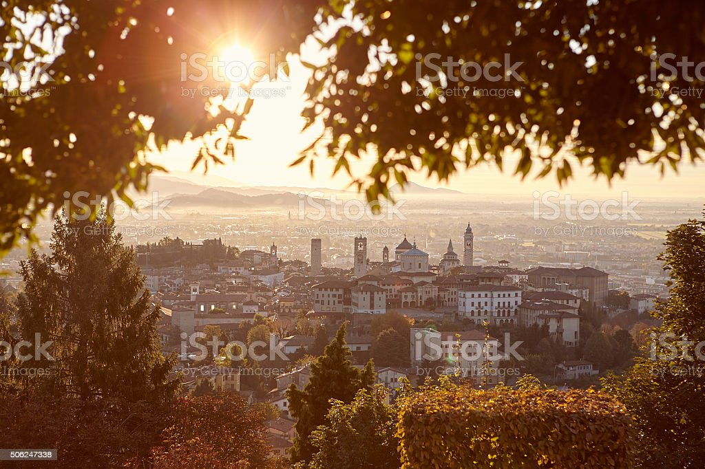 View of Bergamo. stock photo