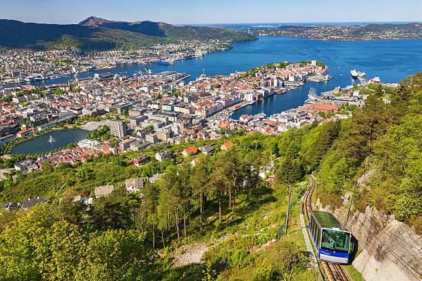 View of Bergen in Norway stock photo