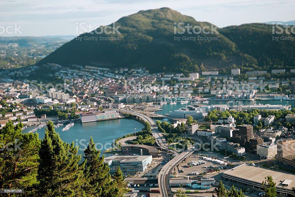 View of Bergen, Norway stock photo
