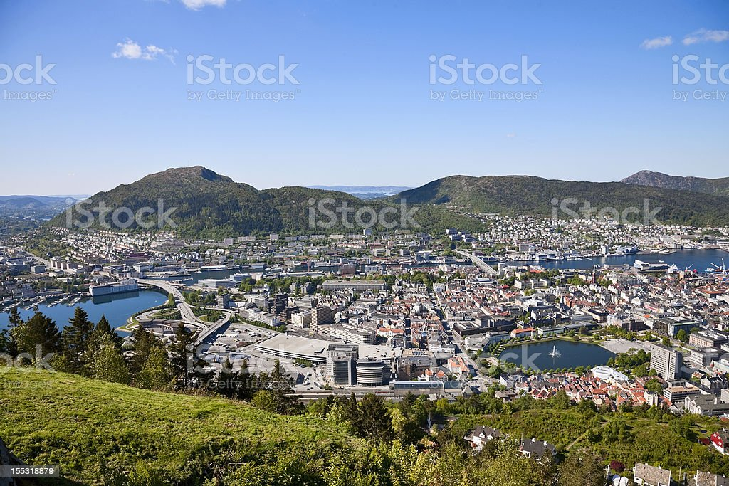 View of Bergen royalty-free stock photo
