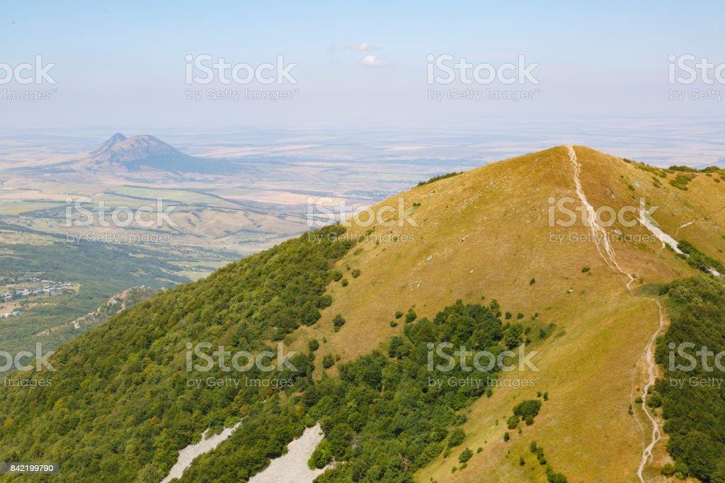 A view of Beshtau mountain. Pyatigorsk. Stavropol Region. Russia stock photo