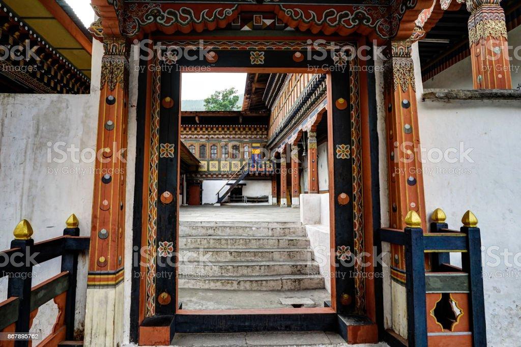 View of Bhutan stock photo