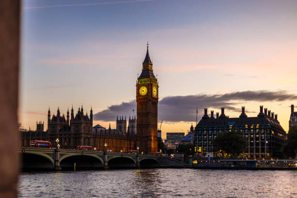 View of Big Ben in spring in London stock photo
