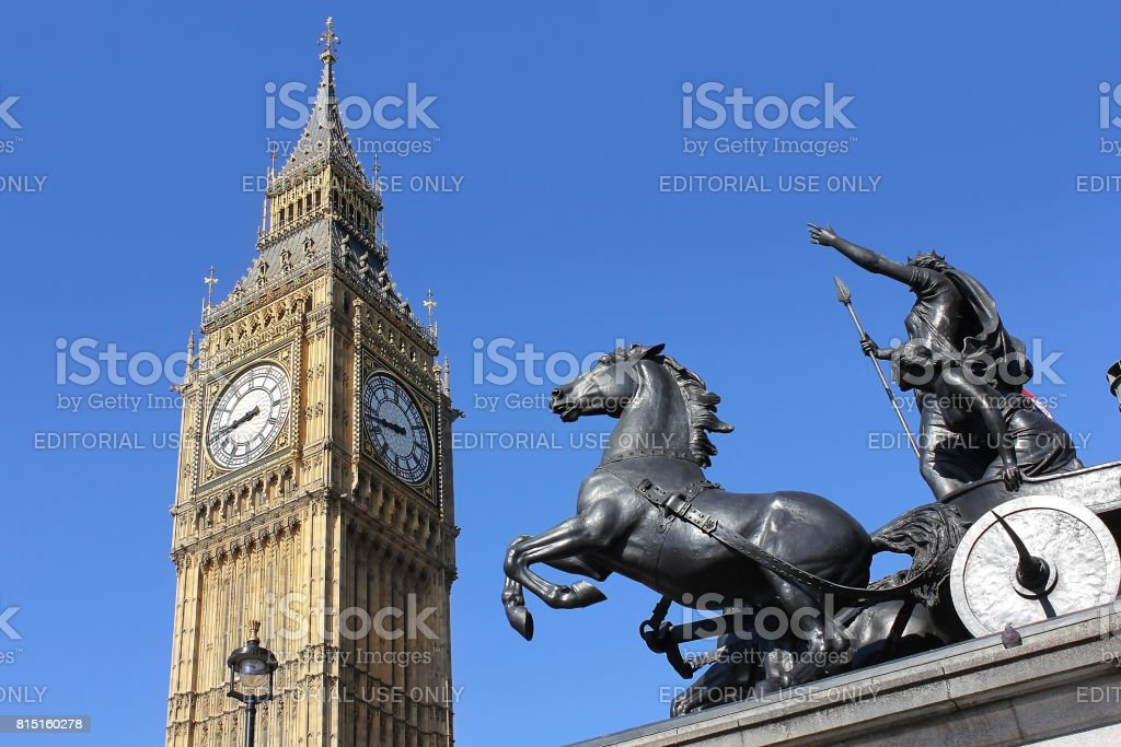 view of big ben, london, uk stock photo